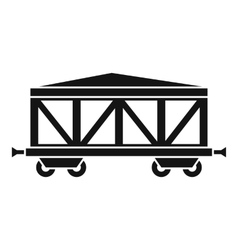 Train cargo wagon icon simple style vector