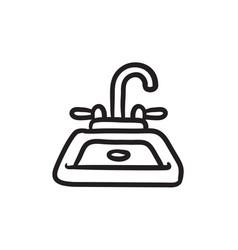 Sink sketch icon vector