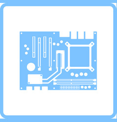 Motherboard icon vector