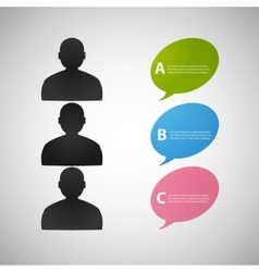 Speech dialog people eps vector
