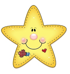 Happy little star vector