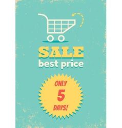 Best price shopping cart vector