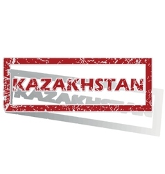 Kazakhstan outlined stamp vector