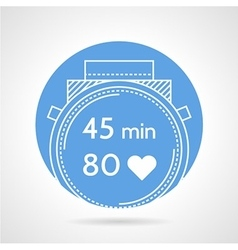 Diving wrist watch icon vector
