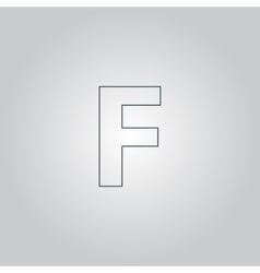 Letter f flat icon vector