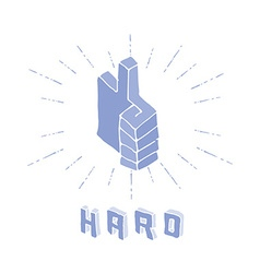 3D Thumbs Up symbol vector image