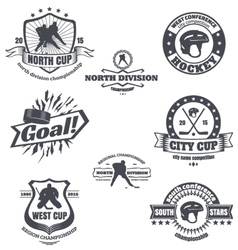 Hockey emblems vector