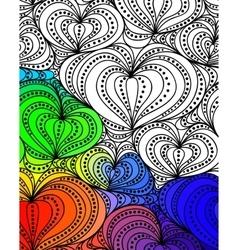 abstract fantasy pattern hand drawn vector image