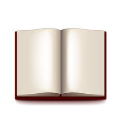 Opened book isolated on white vector