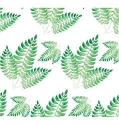 Watercolor green leaf pattern vector