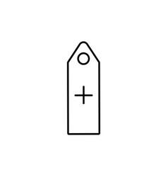 add tag icon vector image