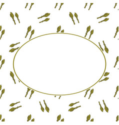 Asparagus hand drawn banner hand drawn ornate for vector