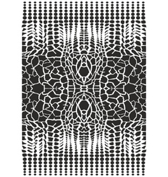 Black and white backgrounds giraffe - abstraction vector image vector image