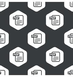 Black hexagon pdf file pattern vector