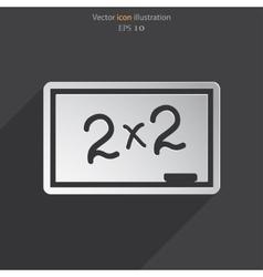 blackboard icon vector image