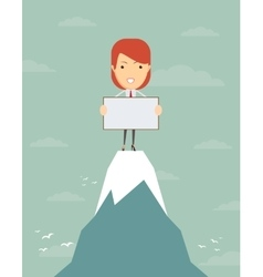 business woman at the top vector image vector image