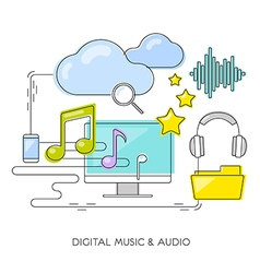Concept digital music audio vector