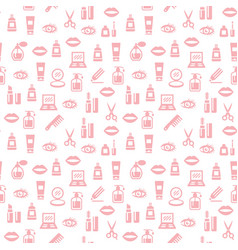 cosmetic seamless pattern background for design vector image