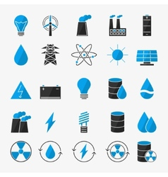 Energy or electricity icon set vector