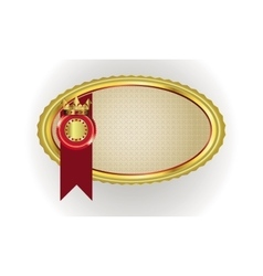 frame with gold rim and crown vector image vector image