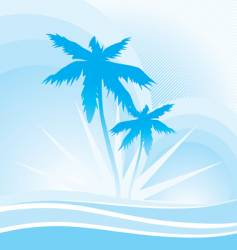 hawaii blue vector image vector image