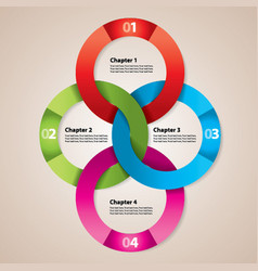 Modern circle diagram poster vector