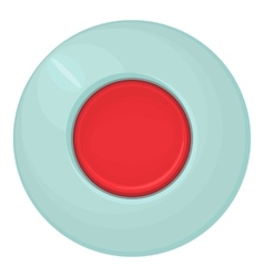 Red round button icon cartoon style vector image vector image