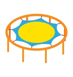Round trampoline icon cartoon style vector