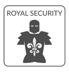 royal security sign vector image vector image