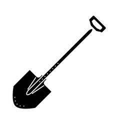shovel icon black sign on vector image vector image