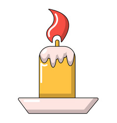 Simple candle icon cartoon style vector