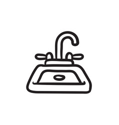 Sink sketch icon vector