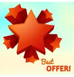 stars isolated best offer vector image