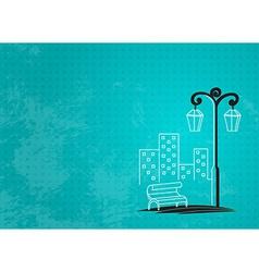 streetlight background vector image