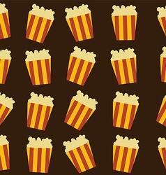 Tasty pop corn theme vector