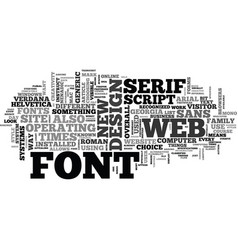 web design what fonts to use text word cloud vector image vector image