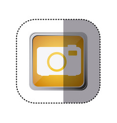 yellow emblem cemera technology icon vector image vector image