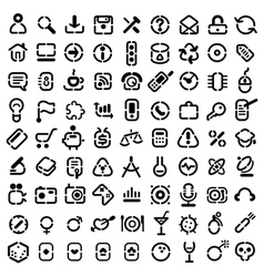 Stencil icons vector image