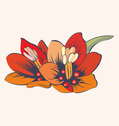 Stylized flowers for design vector