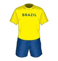 Brazil dres resize vector image