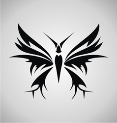 Tribal Butterfly Tattoo vector image