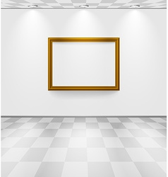 White room with frame vector