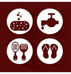 Bathroom icons design vector