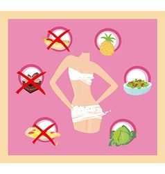 Healthy eating - card vector