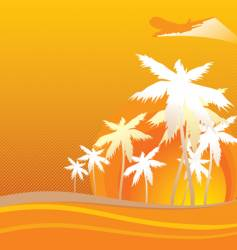 hawaii orange vector image