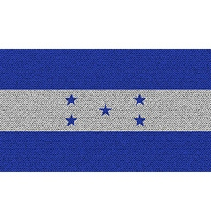 Flags honduras on denim texture vector