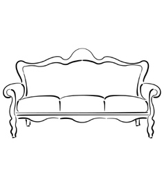 Sketched sofa couch couch sketch vector