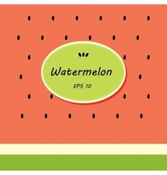 Card template design with watermelon vector
