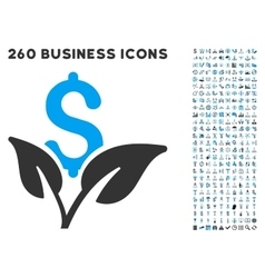 Eco business startup icon with flat set vector
