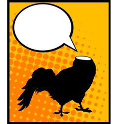 Headless rooster vector image